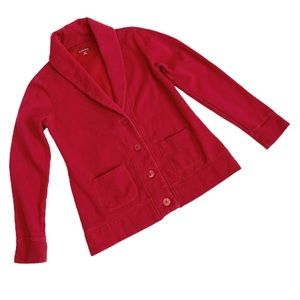 Merona Red Cardigan Collar Sweatshirt Medium